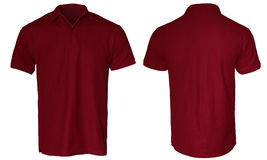 Dark Red Polo Shirt Mock up Stock Images