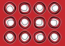Dark red repeat pattern Stock Images
