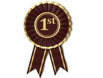 Dark red ribbon award. Royalty Free Stock Image