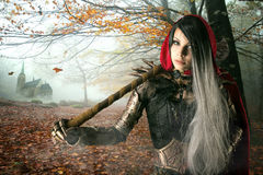 Dark Red Riding hood stock photos