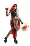 Dark Red Riding hood Stock Photo