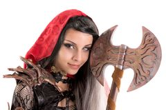 Dark Red Riding hood Stock Images