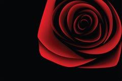 Dark red rose - (VECTOR) royalty free stock photo