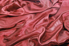 Dark red satin Stock Photo