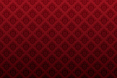 Dark red shield emblem seamless wallpaper Stock Images