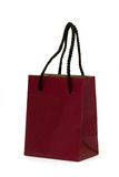 Dark red shopping bag Royalty Free Stock Photography