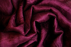 Dark Red Silk as Abstract Background Stock Image