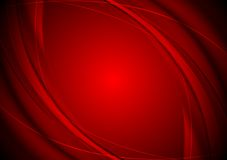 Dark red smooth wavy background. Vector design Royalty Free Stock Images