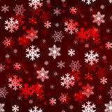 Dark Red Snowflakes Stock Images