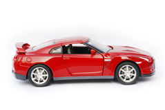 Dark red sport car model. Dark red sport car model on white background Stock Photo