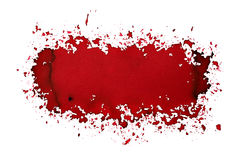 Dark red sprayed stain Royalty Free Stock Photography