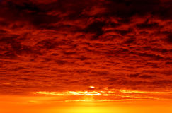 Dark Red Storm Clouds Royalty Free Stock Photo