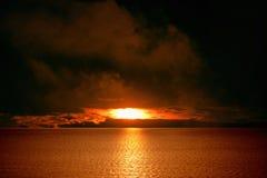 Dark red sunset Stock Photo