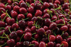Dark Red Sweet Cherries Closeup Royalty Free Stock Photo