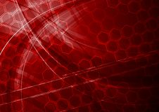 Dark red tech background Royalty Free Stock Photo