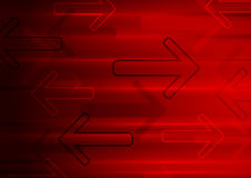 Dark red tech glowing arrows background Royalty Free Stock Photography