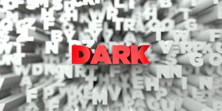DARK -  Red text on typography background - 3D rendered royalty free stock image Stock Image