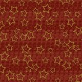 Dark Red Textured Background With Gold Stars. A rich red textured background or backdrop with golden stars Stock Photo
