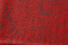 Dark Red Textured Cloth. A dark red textured scarf showing red and black threads, very classy Royalty Free Stock Photo