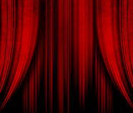 Dark red theater curtain Stock Images