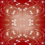 Dark red tile in art deco style with small floral patterns Royalty Free Stock Photos