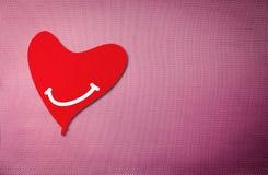 Dark red valentine heart background. Stock Image
