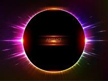 Dark red vector shining cosmic ring Stock Photos