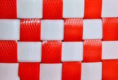 Dark Red and White Checkers textured plastic Stock Photos