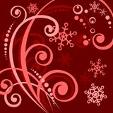 Dark red winter pattern Royalty Free Stock Photo