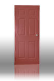 Dark red wood door Stock Image