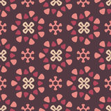Dark retro pattern. Seamless pattern with dark background and decorate elements Royalty Free Stock Image
