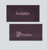 Dark rich color tender rose floral invitation card Royalty Free Stock Images