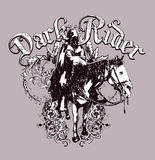 Dark rider design  Royalty Free Stock Photos