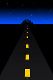 Dark road vector illustration