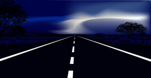 Dark Road. A dark  road going to the horizon Royalty Free Stock Photo