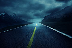 Dark Road. Long road in the darkness Royalty Free Stock Photo