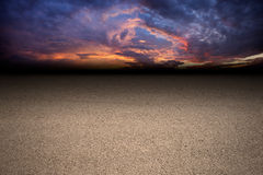 Dark road. On sunset setting Stock Photography
