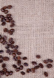 Dark roast coffee beans Stock Photos