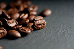 Dark roast coffee beans Stock Photo