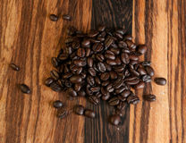 Dark Roast Coffee Beans Stock Photography