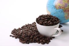 Dark Roasted Coffee Beans Royalty Free Stock Photos