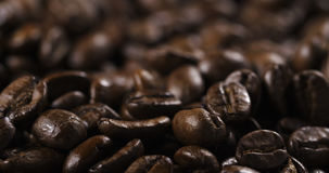 Dark roasted coffee beans for espresso Stock Photography