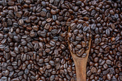 Dark roasted coffee beans Stock Photo
