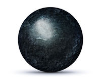 Dark rock planet on white Stock Images
