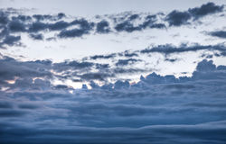 Dark rolling clouds Stock Photography