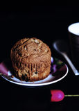 Dark romantic muffin set Royalty Free Stock Photos