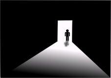 Dark Room. An illustration on the dark room concept stock illustration