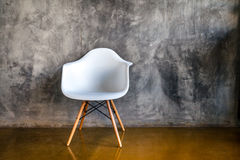 Dark room with armchair in modern style Stock Image