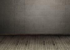 Dark room with floorboards. Kind of amazing Dark room with floorboards Stock Images