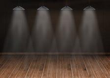 Dark room with floorboards. Kind of amazing Dark room with floorboards Royalty Free Stock Photos